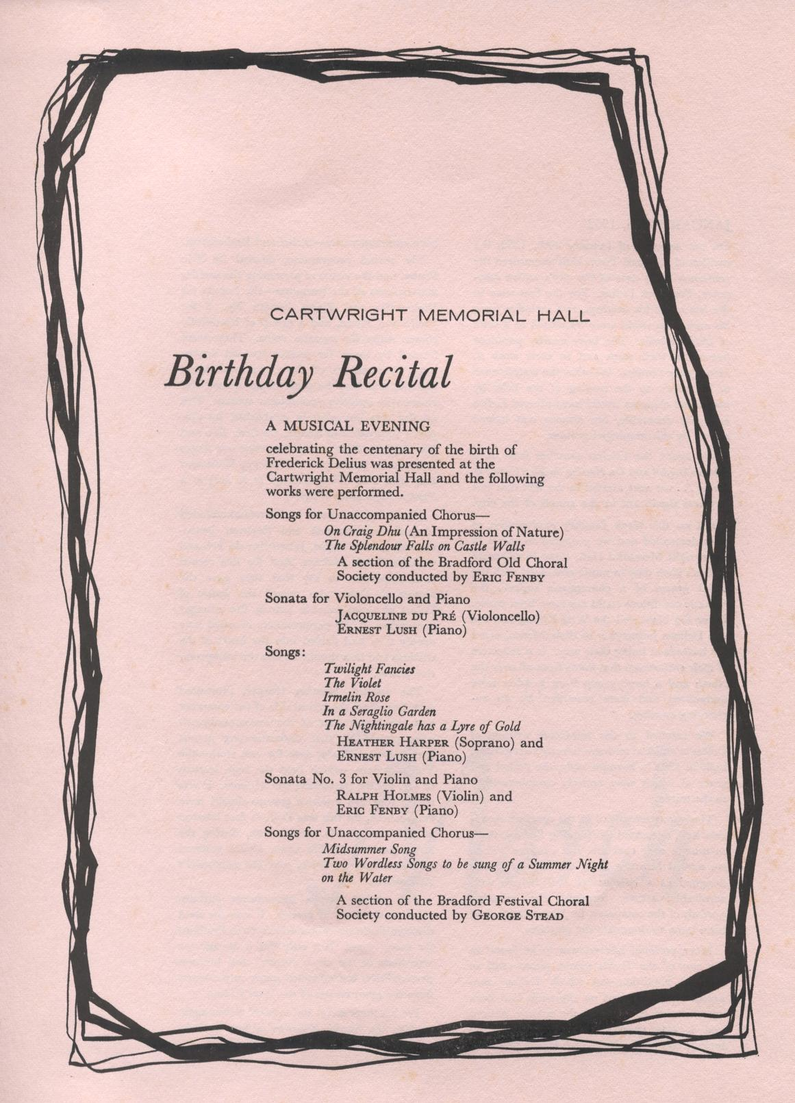 Birthday Program Sample
