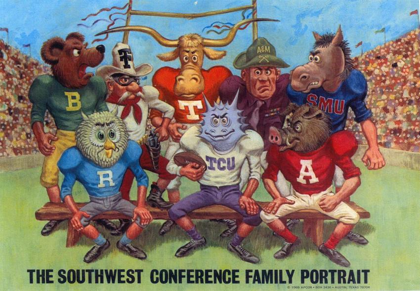 Image result for bill mcclanahan's cartoons of the old Southwest Conference