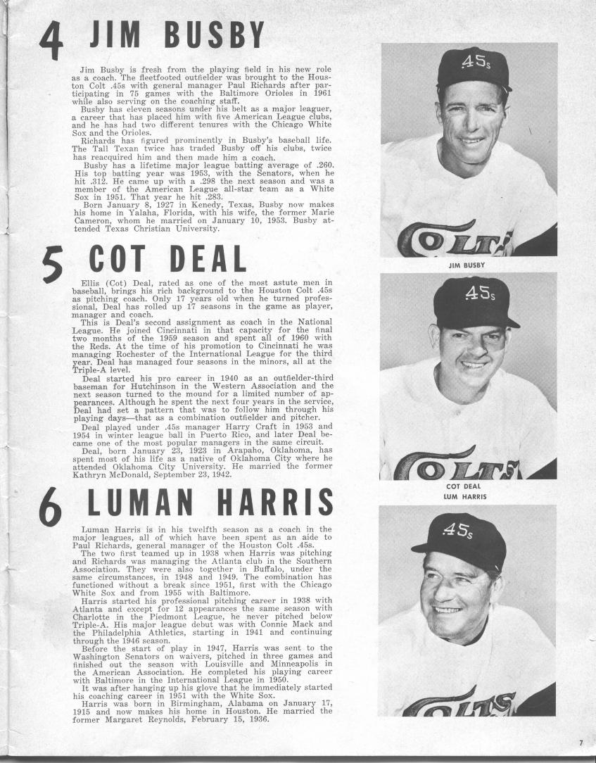 Image result for jim busby 1962 houston colt .45s