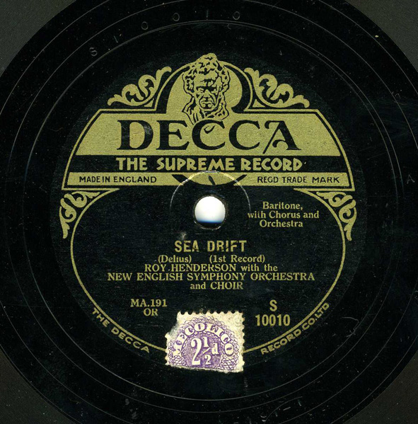 Article On 1929 Decca Recording Of Delius Sea Drift